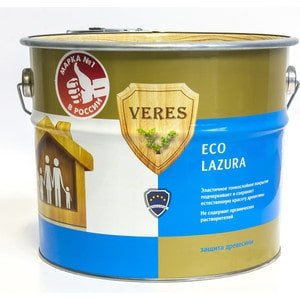 Антисептик для дерева VERES ECO LASURA №12 белый 6л. антисептик для дерева veres eco lasura 2 сосна 2 5л