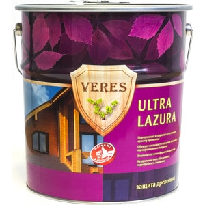 Антисептик для дерева VERES ULTRA LASURA №11 рябина 10л. цена и фото