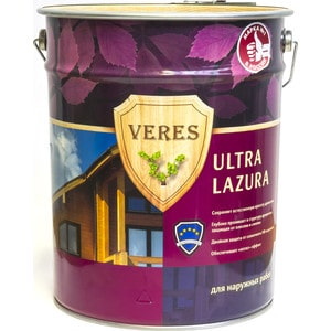 Антисептик для дерева VERES ULTRA LAZURA № 4 орех 20л. цена и фото