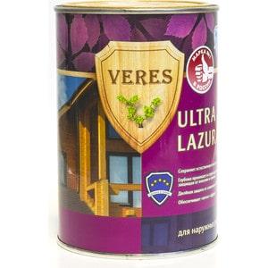 Антисептик для дерева VERES ULTRA LAZURA № 4 орех 0.9л. цена и фото
