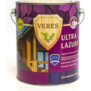 Антисептик для дерева VERES ULTRA LAZURA № 4 орех 2.7л. цена и фото