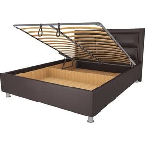 Кровать OrthoSleep Сполето lite механизм и ящик Сонтекс Умбер 200х200 кровать orthosleep арно lite жесткое основание сонтекс умбер 200х200