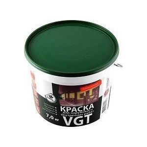 Краска в/д VGT для наружн.и внутр. работ моющаяся белоснежная 7кг. (вд-ак-1180)