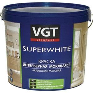 Краска в/д VGT интерьерная моющаяся база С 13кг. (вд-ак-1180)