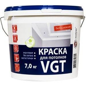 Краска в/д VGT для потолков белоснежная 7кг. (вд-ак-2180)