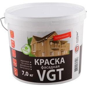 Краска в/д VGT фасадная белоснежная 7кг. (вд-ак-1180)