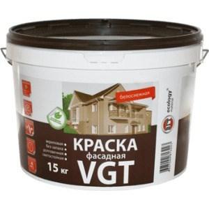 Краска в/д VGT фасадная белоснежная 15кг. (вд-ак-1180)