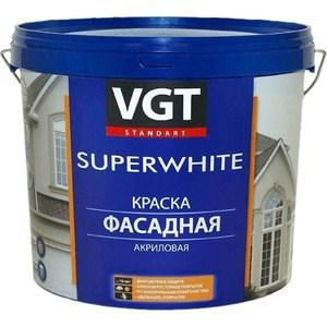 Краска в/д VGT фасадная база С 6кг. (вд-ак-1180) краска фасадная силоксановая матовая база b2 белинка 1 86л