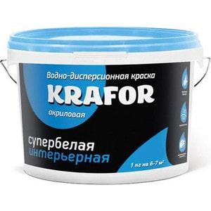 Краска в/д KRAFOR интер. супербелая 6.5кг. biaggio biaggio bi017emjpf06
