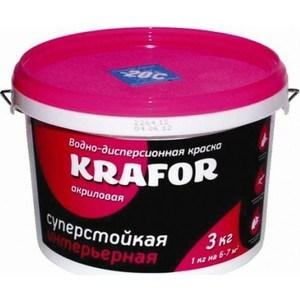 Краска в/д KRAFOR интер. суперстойкая 3кг.