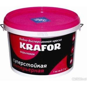 Краска в/д KRAFOR интер. суперстойкая 6.5кг.