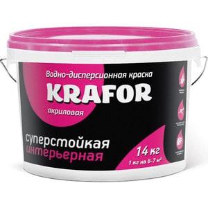 Краска в/д KRAFOR интер. суперстойкая 14кг.