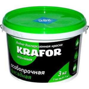 Краска в/д KRAFOR фасадная особо прочная 3кг.