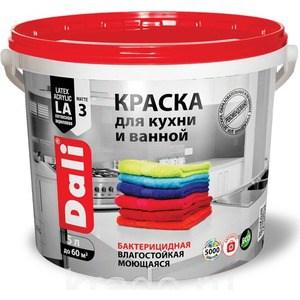 Краска в/д РОГНЕДА DALI латексная для кухни и ванной влагостойкая биозащитная база А 5л.