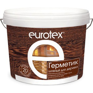Герметик РОГНЕДА EUROTEX шовный для дерева белый 25кг. герметик рогнеда eurotex шовный для дерева орех 25кг