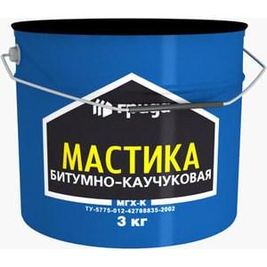 Мастика ГРИДА битумно-каучуковая МГХ-К 3кг. ому универсал 3кг