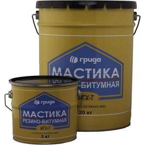 Мастика ГРИДА резино-битумная МГХ-Т 20л. (18кг.)