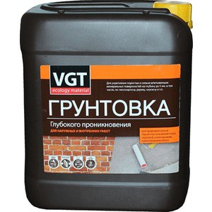 Грунтовка VGT ВД-АК-0301 глубокого проникн. 10кг. грунтовка ленинградские краски эконом глубокого проникновения 10кг