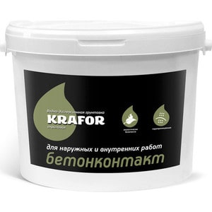Грунтовка KRAFOR бетонконтакт 3кг.