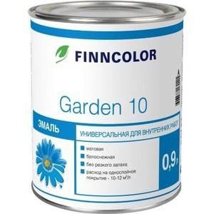 Эмаль универсальная FINNCOLOR GARDEN 10 белая матовая для внутр.работ 0.9л.