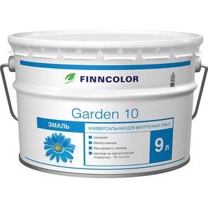 Эмаль универсальная FINNCOLOR GARDEN 10 белая матовая для внутр.работ 9л. эмаль акриловая finncolor garden aqua полуматовая а 0 9л
