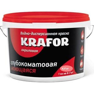 Краска в/д KRAFOR интер. глубокоматов. моющаяся 6.5кг.