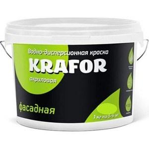 Краска в/д KRAFOR фасадная 6.5кг.