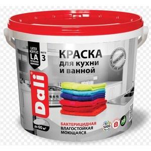 Краска в/д РОГНЕДА DALI латексная для кухни и ванной влагостойкая биозащитная база А 2.5л.