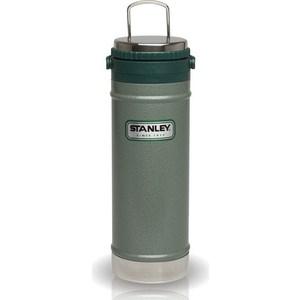 Термокружка с кофе-прессом 0.47 л Stanley Classic зеленая (10-01855-003)