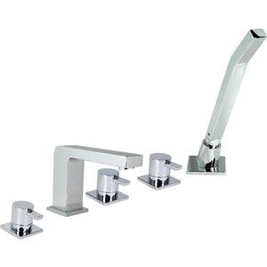 Смеситель для ванны GPD QUADRO на 5 отверстия с душем (MAK90)