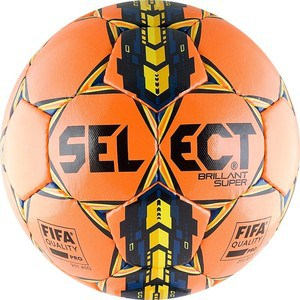 Мяч футбольный Select Brillant Super FIFA ORANGE 810108-065 р.5 цена