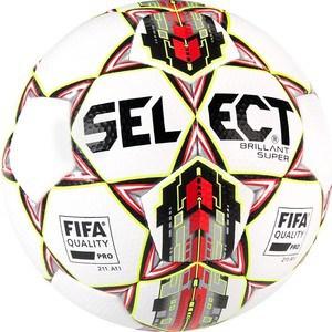 Мяч футбольный Select Brillant Super FIFA 810108-006 р.5 мяч футбольный select talento р 4 тренировочный облегченный дизайн 2018г бел зел крас чер