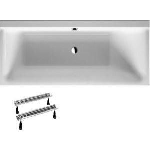 Акриловая ванна Duravit P3 COMFORTS 160x70 см с ножками, правая (700372000000000+790100000000000) акриловая ванна duravit p3 comforts 700371
