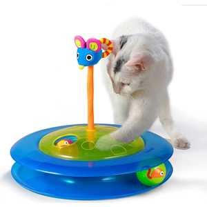 Игрушка Petstages Track Cheese Chase трек с 2-мя мячиками диаметр основания 27см для кошек