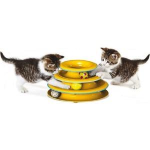 Игрушка Petstages Tower of Tracks трек 3 этажа диаметр основания 24см для кошек игрушка kong cat glide n seek трек на батарейках диаметр 24см для кошек