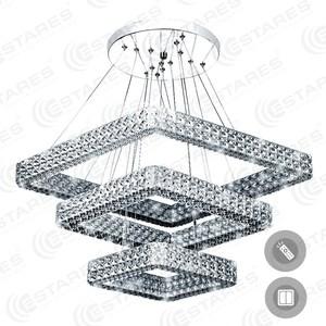 Управляемый светодиодный светильник Estares AKRILIKA 80W 3S-555-CLEAR-220-IP20 управляемый светодиодный светильник estares akrilika 60w r 510 clear white 220 ip20