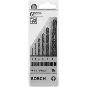Набор сверл по металлу Bosch 2.0-8.0мм 6шт HSS-R (2.607.018.352)