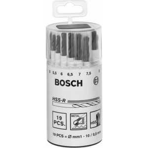 Набор сверл по металлу Bosch 1.0-10.0мм 19шт HSS-R (2.607.018.355)