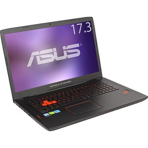 Игровой ноутбук Asus GL702VM-GC035T i7-6700HQ 2600MHz/8Gb/1T/17,3FHD AG IPS/NV GTX1060 6G DDR5/BT/Win10 ноутбук asus gl552vw i7 6700hq 90nb09i3 m08520