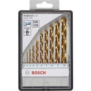 Набор сверл по металлу Bosch 1.0-10.0мм 10шт Robust Line (2.607.010.536)