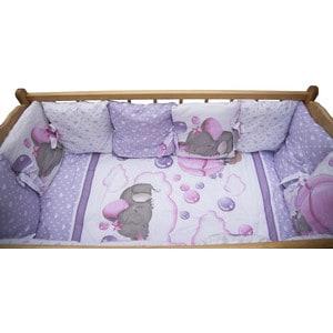 Фотография товара комплект детского постельного белья AmaroBaby 18-ти предметный (6 + 12 подушек-бортиков) ''Нежность'', сатин, розовый (726191)