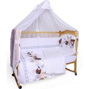 Фотография товара комплект детского постельного белья AmaroBaby белья 7-ми предметный ''Happy'', сатин, белый (726192)