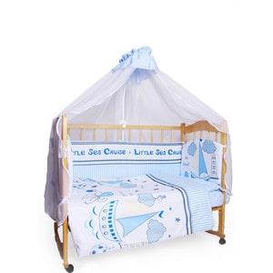 Фотография товара комплект детского постельного белья AmaroBaby 7-ми предметный ''Круиз'', сатин, голубой (726197)