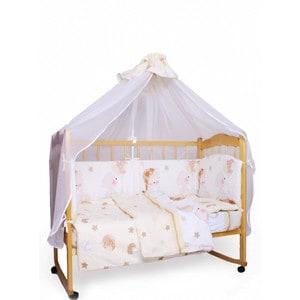 Фотография товара комплект детского постельного белья AmaroBaby 7-ми предметный ''Мишкин сон'', поплин, бежевый (726198)