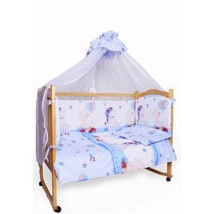 Фотография товара комплект детского постельного белья AmaroBaby 7-ми предметный ''Мишкин сон'', поплин,голубой (726199)