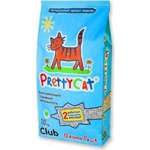 Наполнитель PrettyCat Aroma Fruit впитывающий с део-кристаллами с ароматом ванили для кошек 10кг Club