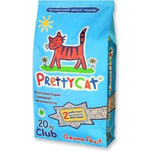 Наполнитель PrettyCat Aroma Fruit впитывающий с део-кристаллами с ароматом ванили для кошек 20кг Club