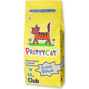 цена на Наполнитель PrettyCat Супер белый комкующийся для кошек 10кг Club