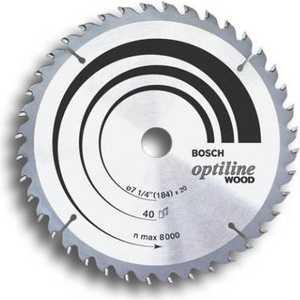 Диск пильный Bosch 190х30мм 24зуба Optiline Wood (2.608.640.615)