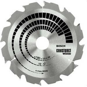 ���� ������� Bosch 190�30�� 12������ Construct Wood (2.608.640.633)